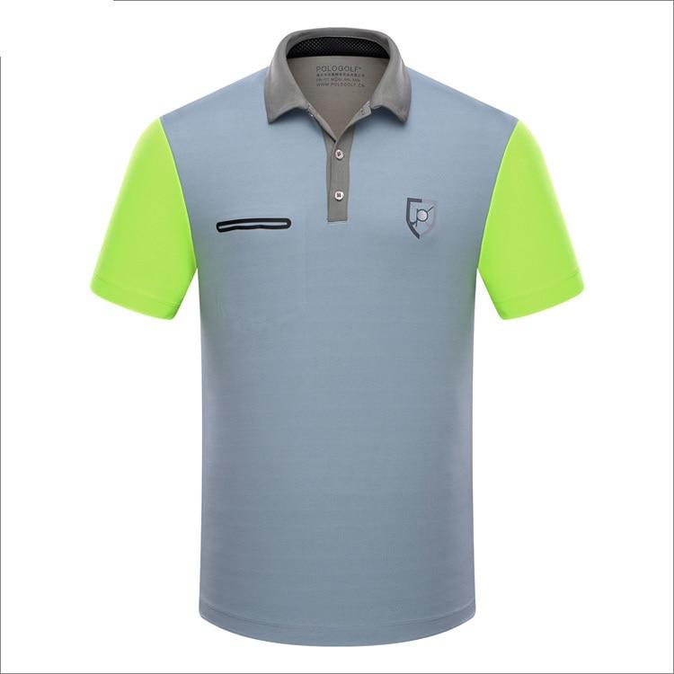 Branded font b Polo b font Golf sports men font b shirts b font summer thin