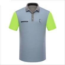 Фирменные Поло Гольф спортивных мужчин рубашки летом тонкие с коротким рукавом сращивания breathble quick dry гольф футболки для мужчин серый синий розовый XL
