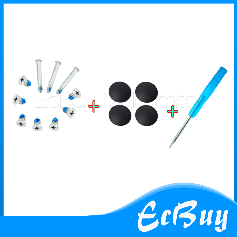 4Pcs/lot for A1278 A1286 A1297 Plastic (No Rubber) Bottom Case Cover Feet Foot Kit +SCREWS Set+TOOL for Macbook Pro 13