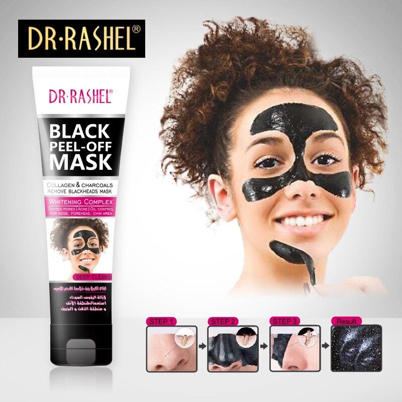 DR.RASHEL Femeile Black Mask Nose Blackhead Remover Peel Off Whitening Masca Faciala Tratamentul Acneei Colagen cu Carbune de Bambus