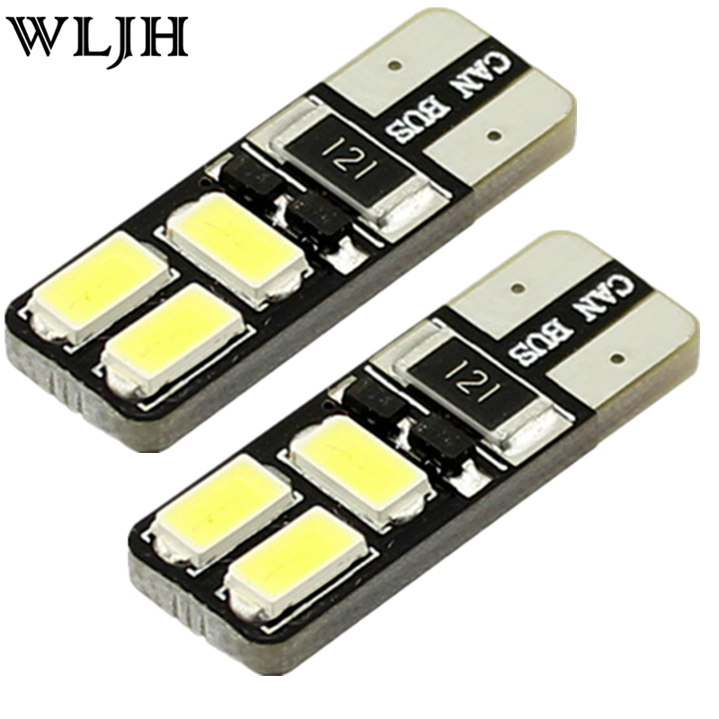 WLJH 2x Canbus Error Free T10 501 Led W5W LED For SAMSUNG Chip 5730 Car Sidelight Boot Parking Light Interior Lighting 12v White wljh 18x canbus error free led 12v interior light kit package car auto lighting for bmw e91 3 series e90 328i 335i sedan coupe