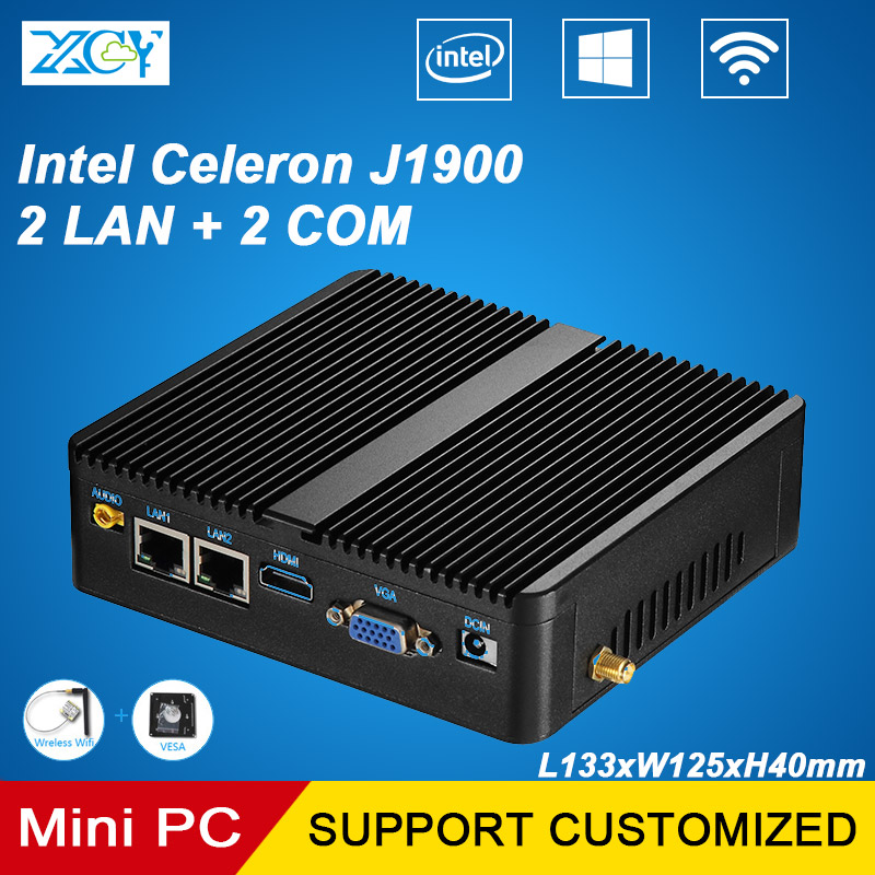 XCY Celeron J1900 Mini PC Quad-cores 4 Threads Mini Desktop s