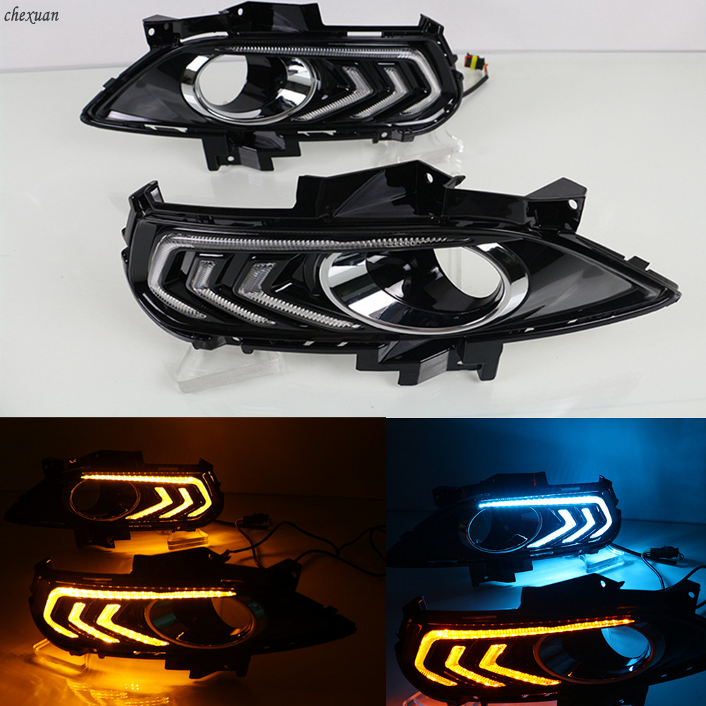 CSCSNL 1 Set DRL Daytime Running Lights For Ford Mondeo Fusion 2013 2014 2015 Fog Lamp