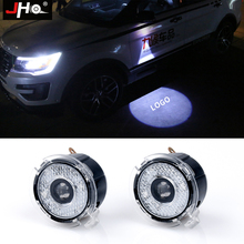 JHO 2x Door Ghost Shadow LED Logo Projector For Ford Explorer 2012 2018 Focus Mondeo Puddle