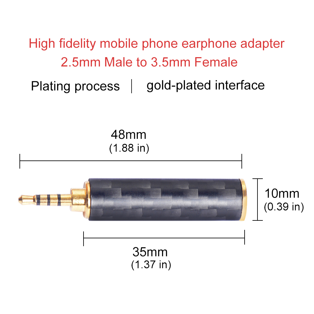 Image 3 - OKCSC Earphone Plug 4.4mm/3.5mm/2.5mm Male Adapter to 2.5mm/3.5mm Female Balanced Carbon Fiber Headphone DIY Accessory for SONY-in Earphone Accessories from Consumer Electronics