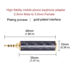 Image 3 - OKCSC Earphone Plug 4.4mm/3.5mm/2.5mm Male Adapter to 2.5mm/3.5mm Female Balanced Carbon Fiber Headphone DIY Accessory for SONY