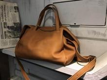 Vendange retro casual genuine leather women bag simple individuality handmade totes cross body bag 2538