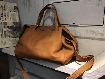 Vendange retro casual lederen vrouwen tas eenvoudige individualiteit handgemaakte bakken cross body bag 2538
