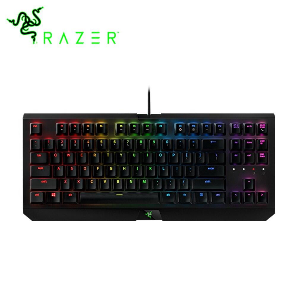 Razer blackveuve X édition tournoi Chroma clavier de jeu mise en page US rétro-éclairage câblé Razer vert commutateurs clavier mécanique