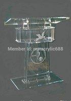 Púlpito móveis Frete Grátis Alta Solidez Design Moderno Barato Limpar Acrílico Púlpito de acrílico púlpito de acrílico