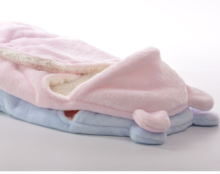 Baby Blanket Envelope Swaddle Winter Wrap Coral Fleece Newborn Blanket Sleeper Infant Stroller Wrap Toddlers Baby Sleeping Bag4