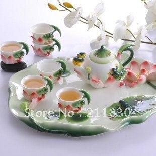 Enamel ceramic tea tea ceremony, charge monthly tea, kung fu teapot ...