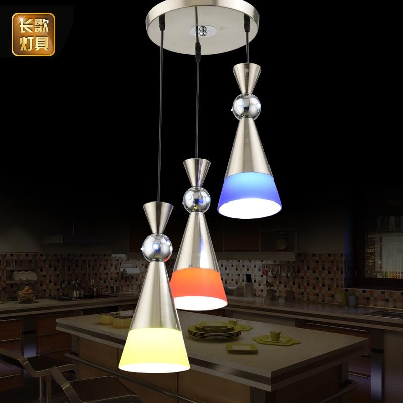 Dining room lamp three modern simple LED lamps single head dining room table lamp