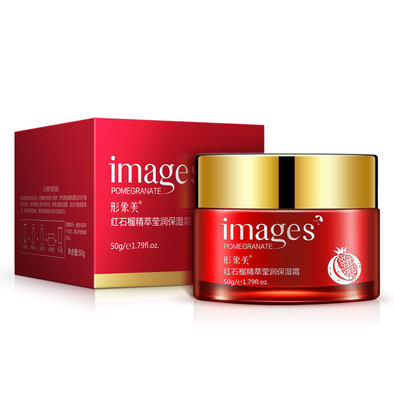 IMAGES Red pomegranate Face Cream Moisturizing Whitening Anti-aging Anti wrinkle Essence Day Cream Face Care 100% original face care liang bang su professional whitening cream for face anti freckle face cream anti spot
