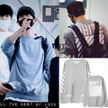 New arrival fashion little child printing o neck sweatshirt kpop exo chanyeol fleece pullover hoodie plus size moletom k-pop do