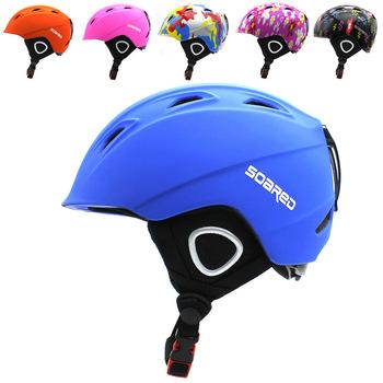 SOARED kids kask narciarski integralnie formowany kask narciarski dzieci śnieg kask bezpieczeństwa deskorolka Ski Snowboard kask dla dzieci tanie i dobre opinie Winter Dziecko 3 lat Kompozyty Skiing Pół pokryte SRD612 S (51-54cm) M(55-58cm) EPS+PC 8-15 Integrally-molded Helmet