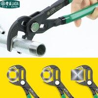 Laoa 10 인치 다기능 워터 펌프 플라이어 파이프 렌치 배관 조합 플라이어 그립 파이프 렌치 배관공 핸드 툴|필러|도구 -