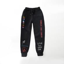 Qualité polaire pantalon TRAVIS SCOTT ASTROWORLD lettre imprimé femmes hommes Jogging pantalon Hip hop Streetwear hommes pantalons de survêtement