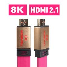 כבלי HDMI UHD HDR 48Gbs 4K @ 60HZ 8K @ 120Hz אודיו ווידאו MOSHOU HDMI 2.1 כבל