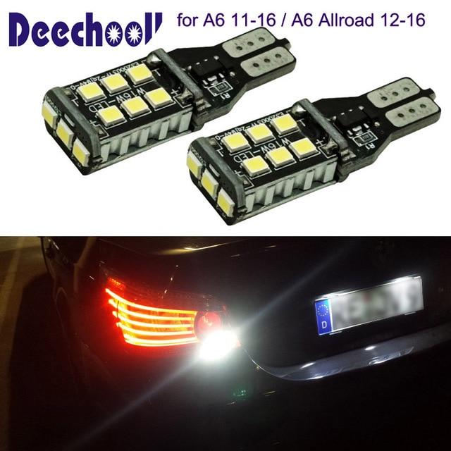 deechooll 2pcs led reverse light bulbs for audi a6 11 16,canbus t15