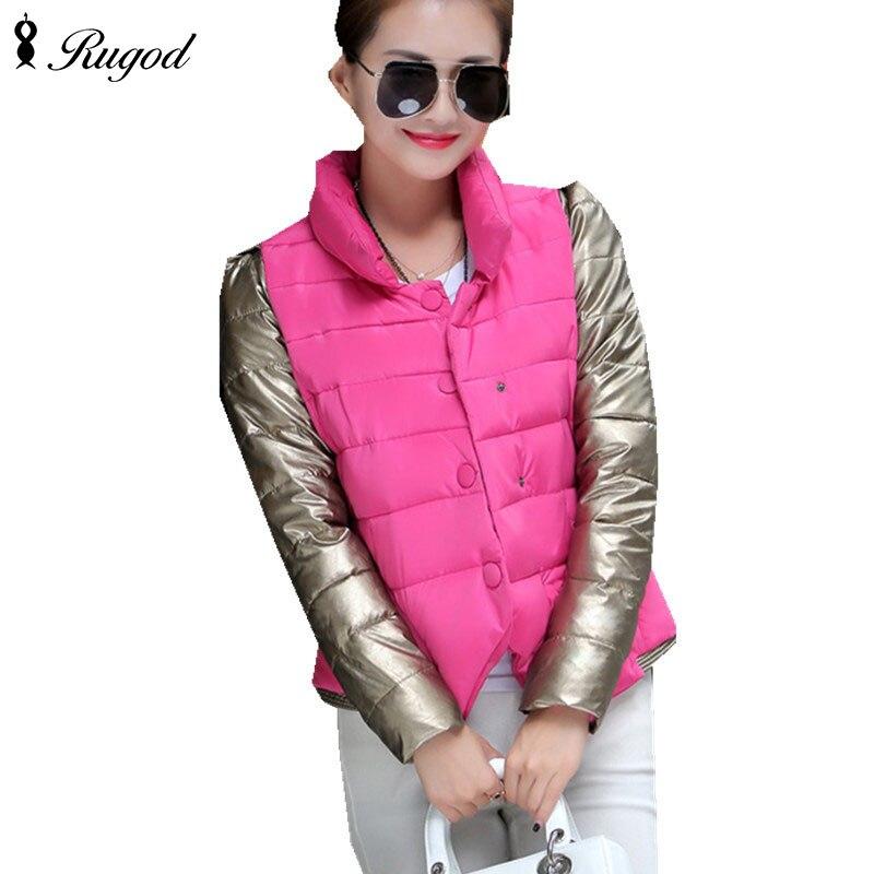 New Fashion Short Parkas Women Winter Coat Thickening Cotton Slim Jacket Female Outwear Parka For Womens
