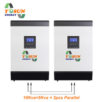 MPPT Solar Inverter 60A off Grid Solar System 2pcs Parallel Pure Sine Wave Power Battery Charger Inversor Parallel Kit Card Free