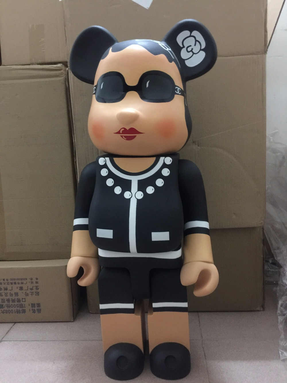 70cm Bearbrick 1000% Luxury Lady CH Be@rbrick PVC Action Figure Collectible Model Toy Birthday gift ornaments hot selling oversize 1000% bearbrick luxury lady ch be rbrick medicom toy 52cm zy503