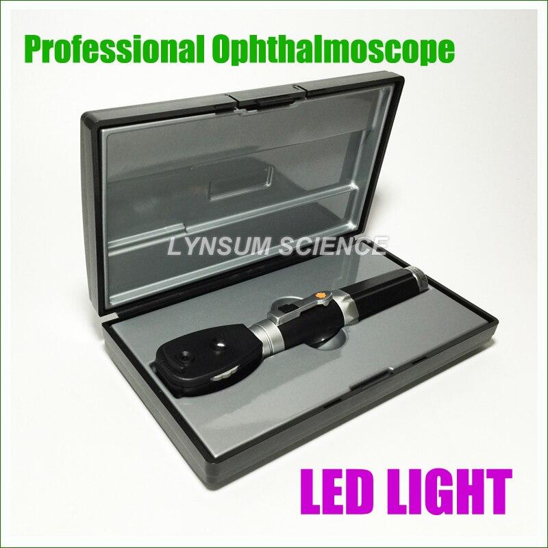 Professionele Medische Oftalmoscopio Eye LED Diagnositc Kit Draagbare Oogspiegel-in Oor verzorging van Schoonheid op  Groep 1