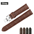 18mm 19mm 20mm 21mm 22mm Genuine Leather Watchband Alligator Grain Pull Deployment Clasp Watch Band Strap For Omega Tissot Oris