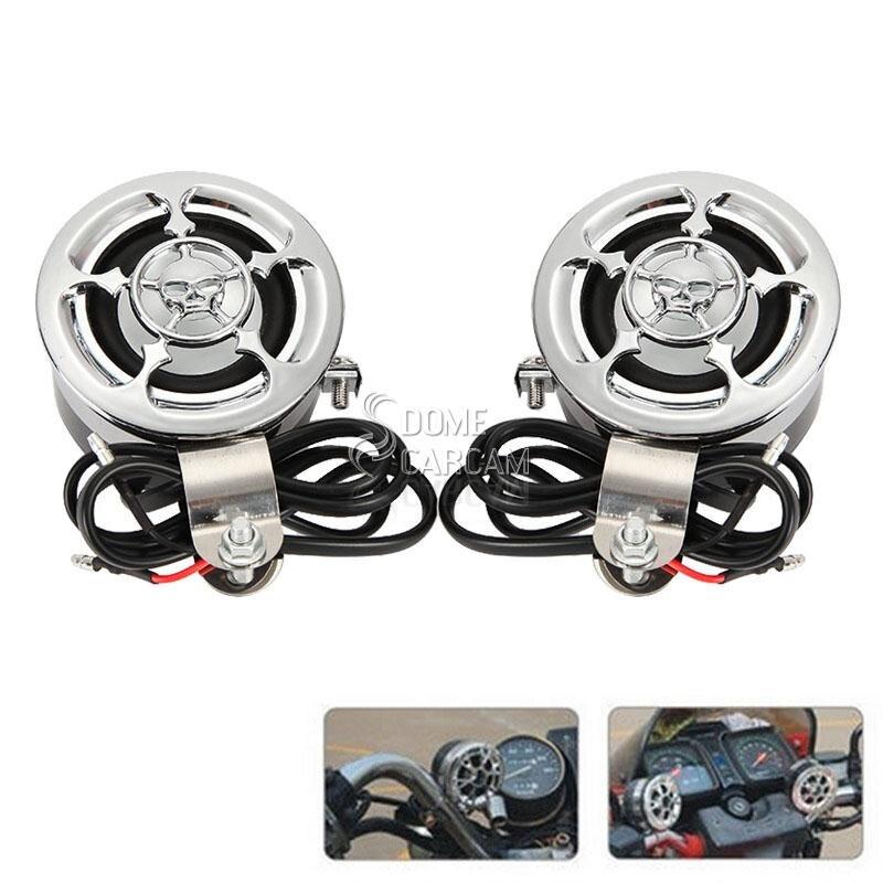 Skull Amplifier Motor Radio MP3 Handlebar Mount Speaker Cocok Untuk - Aksesori dan suku cadang sepeda motor - Foto 2