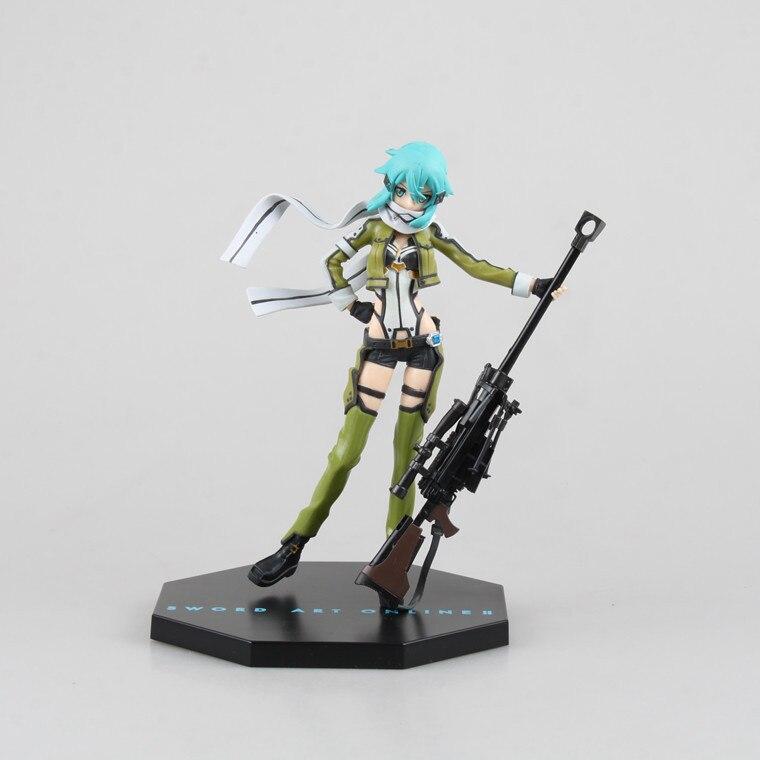 Huong Anime Figure 20 CM Sword Art Online II Gun Gale Online GGO Asada Shino PVC Action Figure Collectible Toy