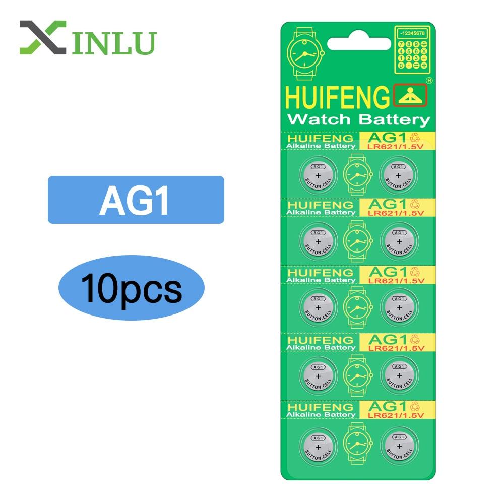 Knopfzelle Batterien Batterien 10 Stücke Ag1 Lr621 364 164 531 Sr621 Sr621sw Sr60 Sp364 Tr621 Uhr Münze Taste Zelle Batterie 2019 Offiziell