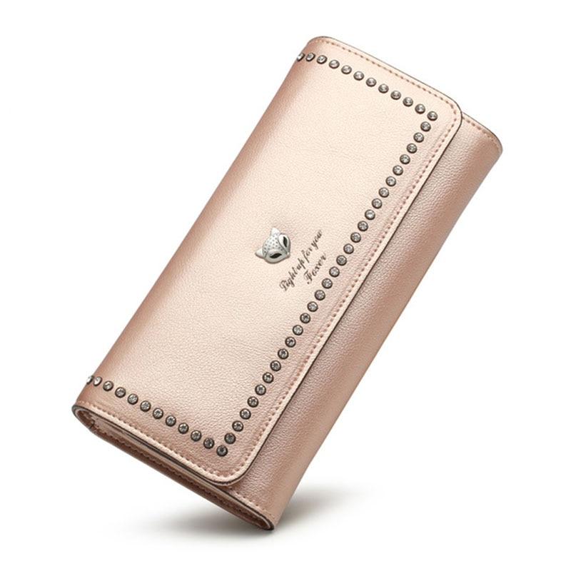 FOXER Для женщин длинные кошельки Ретро Кожаный Клатч женский кошелек повелительницы бумажник стильный кошелек для Для женщин длинный кошеле…