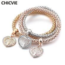 Chicvie рождественский подарок браслеты и с любовью эластичные