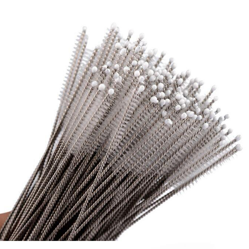 2000 pcs New Arrive Stainless steel wire cleaning brush straws cleaning brush bottles brush