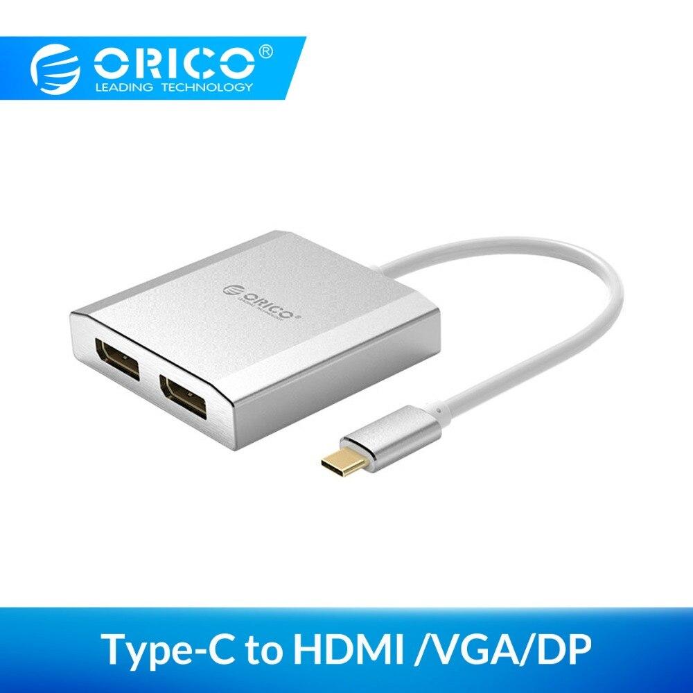 ORICO type-c à double adaptateur HDMI DP câbles HDMI 4 K 30Hz/60Hz HD pour Macbook Pro Samsung S9 Huawei Mate P20 ordinateur portable TV