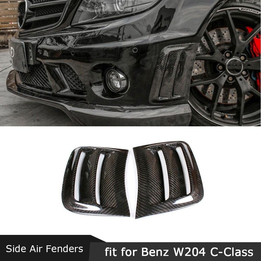 Cadre d'autocollants de couverture de garnitures d'aération de pare-chocs avant de Fiber de carbone pour les plaques de Scoop de Benz W204 C200 C300 C63 AMG 2008-2011 FRP