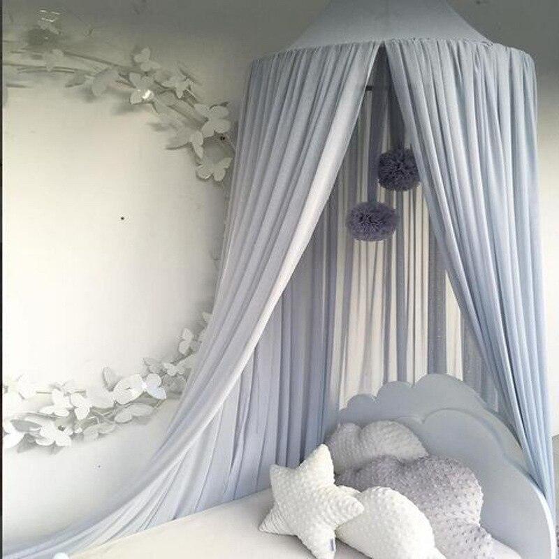 Baby Mosquito Net Hanging Curtain Round Hung Crib Tent ...
