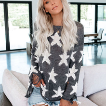 2019 Autumn Winter Women Sweaters Casual Long Pullovers Geometric Sleeve Knitted Fashion Knitting Jumper