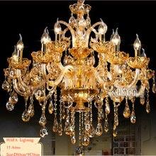 Новинка,, большие люстры, люстра K9, кристалл, роскошное большое украшение для дома, Янтарный/золотой/cognic/прозрачная люстра, Кристалл