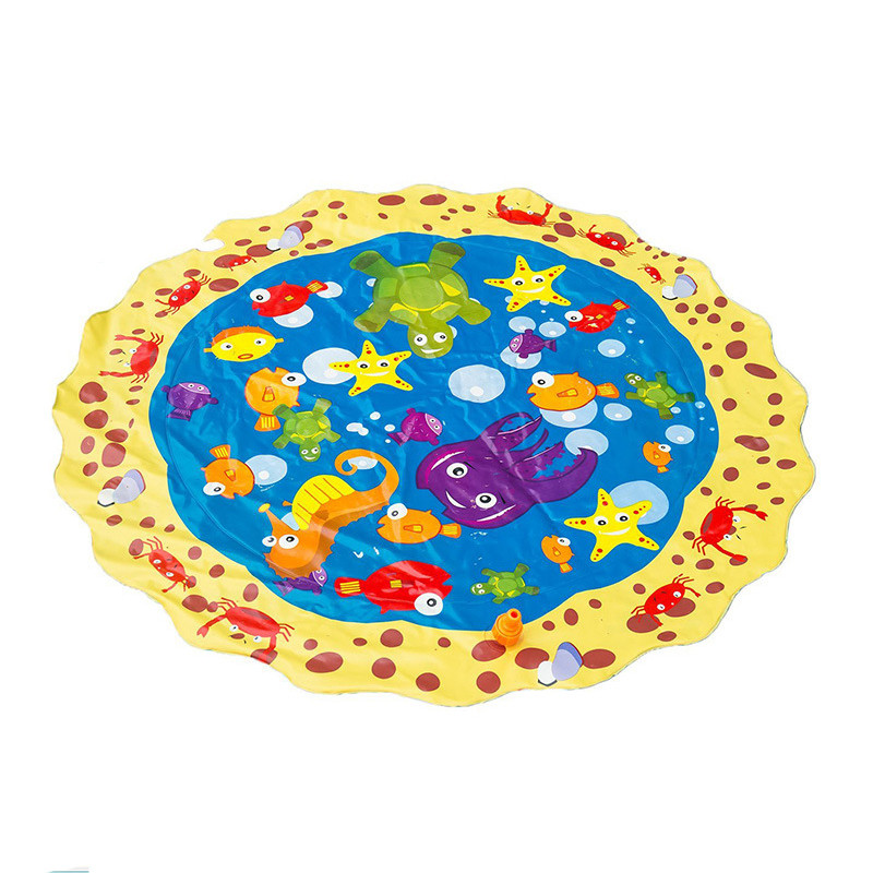 100 Cm Water Mat Kids Outdoor Summer Fun Game Party Toy Fashion Sprinkler Pad Play Mat Outdoor Activity For Baby Kids 5.27