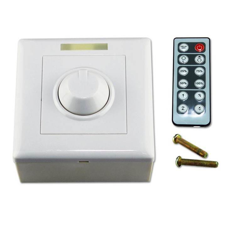 DC 12V 24V 16A IR <font><b>LED</b></font> <font><b>Dimmer</b></font> Switch Brightness Controller for single colort+IR <font><b>Remote</b></font> Controller image