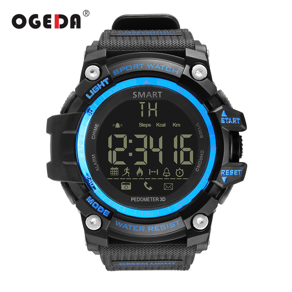OGEDA Men Smart Watch Waterproof IP68 Swimming Ultra-long Standby Outdoor Bluetooth 4.0 Sport Smartwatch For IOS Android Phone no 1 f2 ip68 bluetooth smartwatch green
