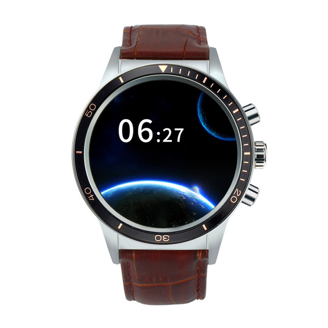 Full View Screen Smartwatch MTK6580 Android 5.1 OS 380mAh Battery WiFi GPS Bluetooth Heart-rate Call Reminder Sports Smart Watch