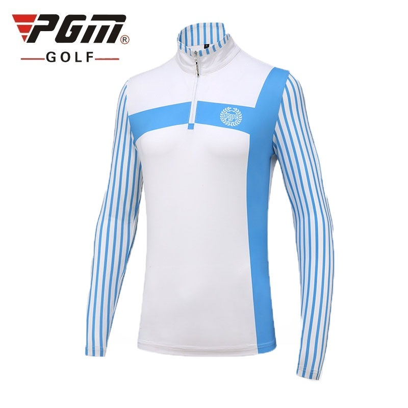 Sweat-shirt de sport Pgm pour femmes chemises de Golf à manches longues chemises à séchage rapide pour femmes vêtements de Golf à rayures Slim AA60471
