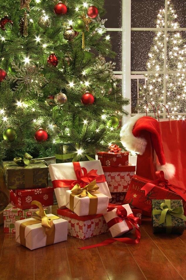 фото с новогодними подарками под елкой присутствии говорят