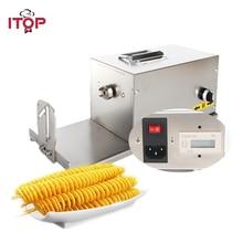 ITOP коммерческих витой картофеля с электрической спиралью, морковь резак многофункциональная машина для резки овощей 110V 220V