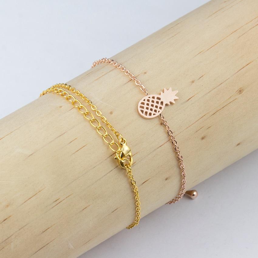 Minimale Ananas Armbänder & Armreifen Edelstahl Armbänder für - Modeschmuck - Foto 5