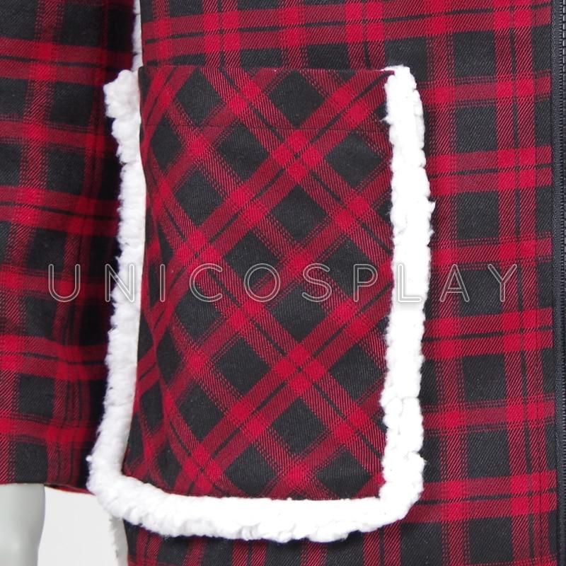 Deadpooljas Cosplay-kostuums Rode en zwarte rasteruitloper - Carnavalskostuums - Foto 5
