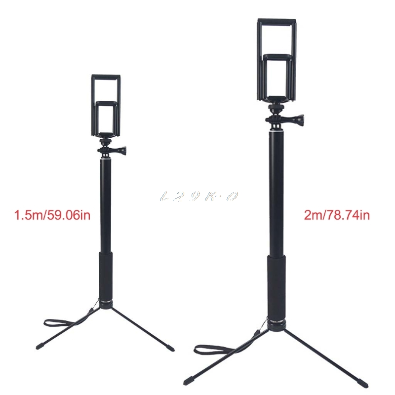 1.5 m/2 m extensível selfie vara tripé suporte para iphone ipad dslr android gopro